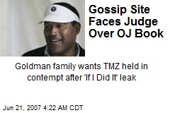 Gossip Site Faces Judge Over OJ Book