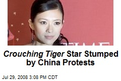 Crouching Tiger Star Stumped by China Protests