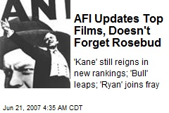 AFI Updates Top Films, Doesn't Forget Rosebud