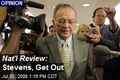 Nat'l Review: Stevens, Get Out
