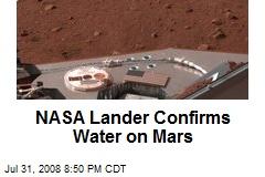 NASA Lander Confirms Water on Mars