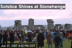 Solstice Shines at Stonehenge