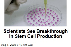 Scientists See Breakthrough in Stem Cell Production