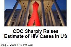 CDC Sharply Raises Estimate of HIV Cases in US