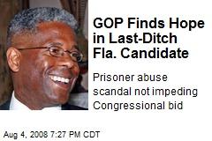 GOP Finds Hope in Last-Ditch Fla. Candidate