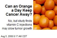 Can an Orange a Day Keep Cancer Away?