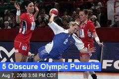 5 Obscure Olympic Pursuits