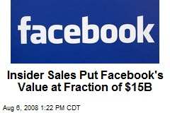 Insider Sales Put Facebook's Value at Fraction of $15B