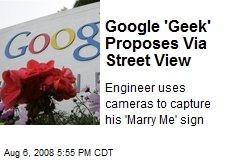 Google 'Geek' Proposes Via Street View