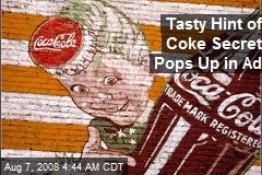 Tasty Hint of Coke Secret Pops Up in Ad