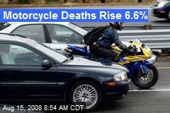 Motorcycle Deaths Rise 6.6%