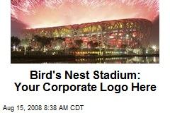 Bird's Nest Stadium: Your Corporate Logo Here