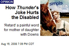 How Thunder 's Joke Hurts the Disabled