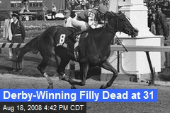 Derby-Winning Filly Dead at 31