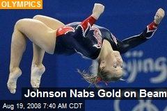Johnson Nabs Gold on Beam