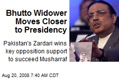 Bhutto Widower Moves Closer to Presidency