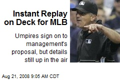 Instant Replay on Deck for MLB