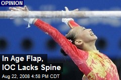 In Age Flap, IOC Lacks Spine