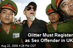 Glitter Must Register as Sex Offender in UK