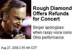 Rough Diamond Offers Refunds for Concert