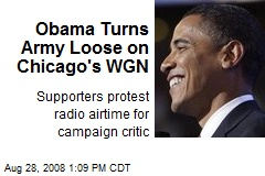 Obama Turns Army Loose on Chicago's WGN