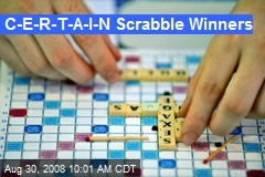 C-E-R-T-A-I-N Scrabble Winners