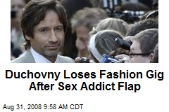 Duchovny Loses Fashion Gig After Sex Addict Flap