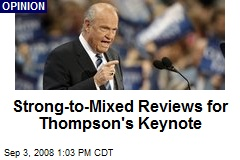 Strong-to-Mixed Reviews for Thompson's Keynote