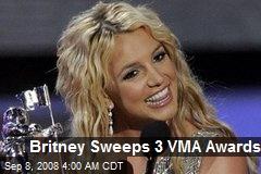 Britney Sweeps 3 VMA Awards