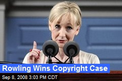Rowling Wins Copyright Case