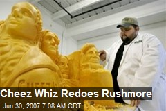 Cheez Whiz Redoes Rushmore
