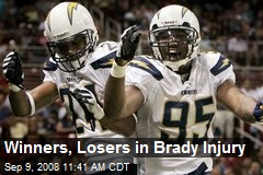 Winners, Losers in Brady Injury