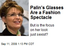 Palin's Glasses Are a Fashion Spectacle