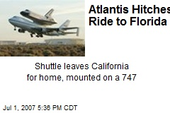 Atlantis Hitches Ride to Florida