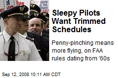Sleepy Pilots Want Trimmed Schedules