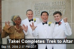 Takei Completes Trek to Altar
