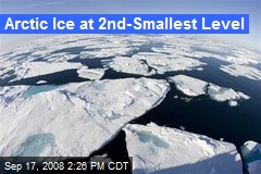 Arctic Ice at 2nd-Smallest Level