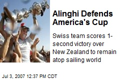 Alinghi Defends America's Cup