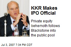 KKR Makes IPO Official