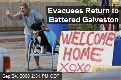 Evacuees Return to Battered Galveston
