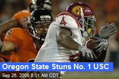 Oregon State Stuns No. 1 USC