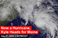 Now a Hurricane, Kyle Heads for Maine