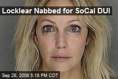 Locklear Nabbed for SoCal DUI