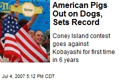 American Pigs Out on Dogs, Sets Record