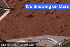 It's Snowing on Mars