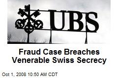 Fraud Case Breaches Venerable Swiss Secrecy