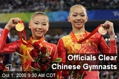 Officials Clear Chinese Gymnasts