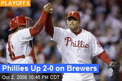 Phillies Up 2-0 on Brewers