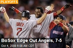 BoSox Edge Out Angels, 7-5