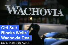 Citi Suit Blocks Wells' Wachovia Deal